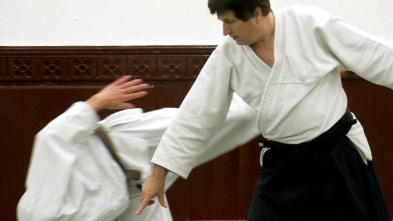 Bob MacFarland doing an aikido throw